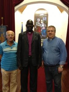 Revd Roy Taylor (retired), Rt Revd Moses Den Bong (Wau), Revd Colin Davis (Rector)