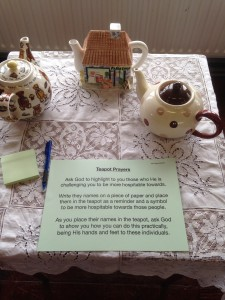 St. Patrick's 24/7 Prayer Space - praying for the gift of hospitality