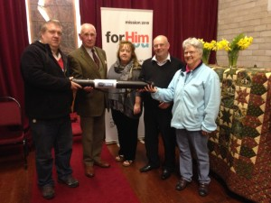 24/7 Prayer Scroll handover - from Movilla Abbey to St. Patrick's