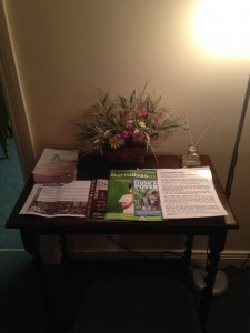Christ Church 24/7 Prayer space - welcome table