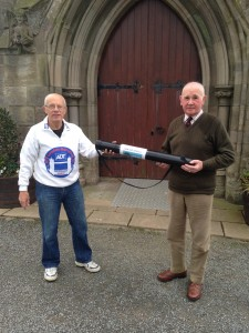 24/7 Prayer Scroll handover - Ardkeen (Roy) receives from Carrowdore (Sam)